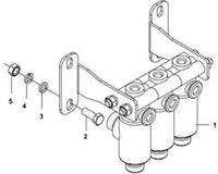 Блок 3-х (трех) электроклапанов DONG FENG 37ZD2A-54030-B