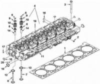 Головка блока цилиндров (ГБЦ) DONG FENG 375 л.с. Евро-3  C4942139 (в сборе)