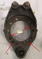 Суппорт задний/средний мост 12 отв. d=154mm с АБС HOWO AZ9231340562