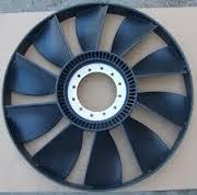 Вентилятор 10 лопастей D=590mm с кольцом SHAANXI, HOWO VG2600060447/VG1500060047