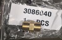 Адаптер-штуцер (фитинг- штуцер) для ДВС CUMMINS QSK19 3086016, 3086040